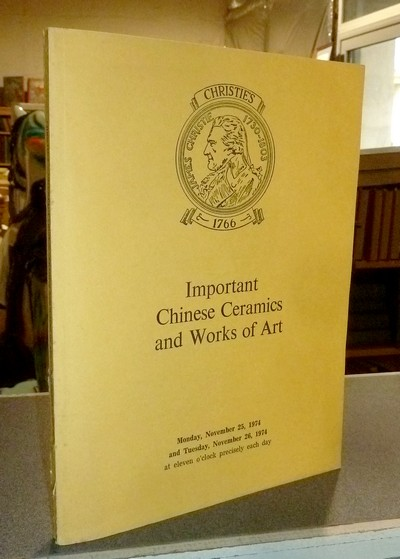 Important Chinese ceramics and works of art, Christie's November 25 & 26, 1974 -