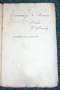 Livre ancien - Causeries sur le paysage - Allemand, Hector (Peintre Lyonnais)