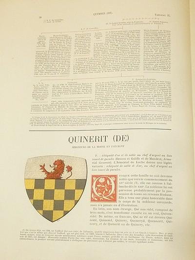 Livre ancien Savoie - Armorial et Nobiliaire de l'Ancien Duché de Savoie (Tome V - livraison 3) - Foras, Le Cte E. Amédée de & Mareschal de Luciane, Cte F.-C. de & Viry, Cte Pierre de