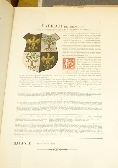 Livre ancien Savoie - Armorial et Nobiliaire de l'Ancien Duché de Savoie (Tome V - livraison 4) - Foras, Le Cte E. Amédée de & Mareschal de Luciane, Cte F.-C. de & Viry, Cte Pierre de