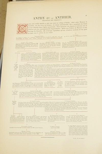 Livre ancien Savoie - Armorial et Nobiliaire de l'Ancien Duché de Savoie (Tome VI - livraison 4) - Foras, Le Cte E. Amédée de & Mareschal de Luciane, Cte F.-C. de & Viry, Cte Pierre de & d'Yvoire, Baron