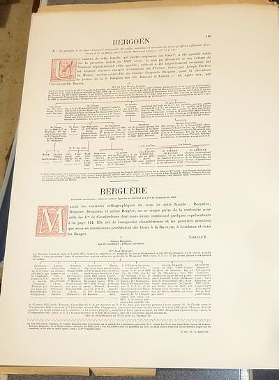 Livre ancien Savoie - Armorial et Nobiliaire de l'Ancien Duché de Savoie (Tome VI - livraison 10) - Foras, Le Cte E. Amédée de & Mareschal de Luciane, Cte F.-C. de & Viry, Cte Pierre de & d'Yvoire, Baron