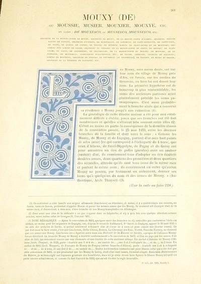 Livre ancien Savoie - Armorial et Nobiliaire de l'Ancien Duché de Savoie (Tome IV - Livraison 14) - Foras, Le Cte E. Amédée de & Mareschal de Luciane, Cte F.-C. de