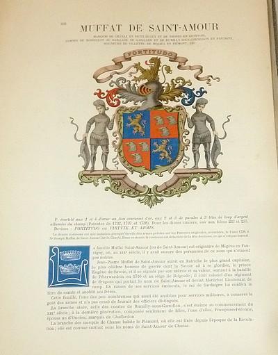 Livre ancien Savoie - Armorial et Nobiliaire de l'Ancien Duché de Savoie (Tome IV - Livraison 15) - Foras, Le Cte E. Amédée de & Mareschal de Luciane, Cte F.-C. de