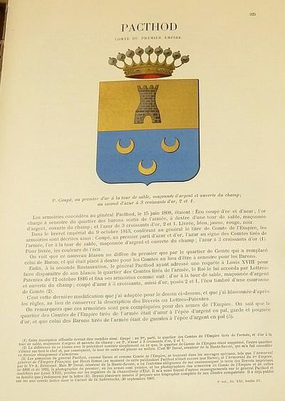 Livre ancien Savoie - Armorial et Nobiliaire de l'Ancien Duché de Savoie (Tome IV - Livraison 21) - Foras, Le Cte E. Amédée de & Mareschal de Luciane, Cte F.-C. de