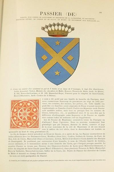Livre ancien Savoie - Armorial et Nobiliaire de l'Ancien Duché de Savoie (Tome IV - Livraison 23) - Foras, Le Cte E. Amédée de & Mareschal de Luciane, Cte F.-C. de