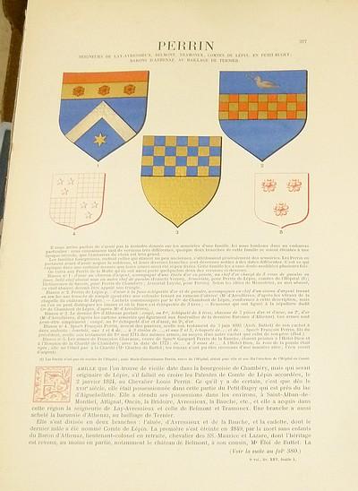 Livre ancien Savoie - Armorial et Nobiliaire de l'Ancien Duché de Savoie (Tome IV - Livraison 25) - Foras, Le Cte E. Amédée de & Mareschal de Luciane, Cte F.-C. de