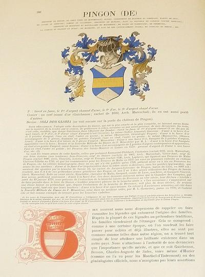Livre ancien Savoie - Armorial et Nobiliaire de l'Ancien Duché de Savoie (Tome IV - Livraison 26) - Foras, Le Cte E. Amédée de & Mareschal de Luciane, Cte F.-C. de
