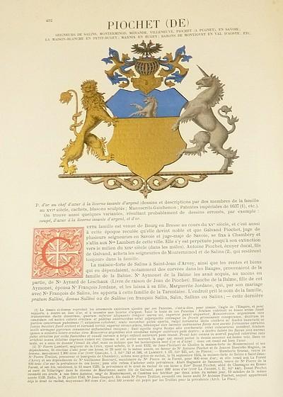 Livre ancien Savoie - Armorial et Nobiliaire de l'Ancien Duché de Savoie (Tome IV - Livraison 27) - Foras, Le Cte E. Amédée de & Mareschal de Luciane, Cte F.-C. de