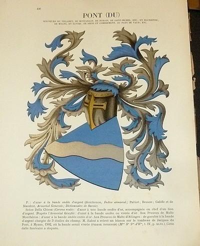 Livre ancien Savoie - Armorial et Nobiliaire de l'Ancien Duché de Savoie (Tome IV - Livraison 28) - Foras, Le Cte E. Amédée de & Mareschal de Luciane, Cte F.-C. de