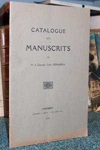 Livre ancien Savoie - Catalogue des Manuscrits de M. le Chevalier Léon Ménabréa - Ménabréa Léon