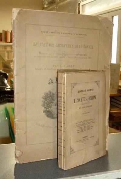 Livre ancien Savoie - Habitations lacustres de la Savoie (2 volumes : 1 de texte + Album de... - Rabut, Laurent