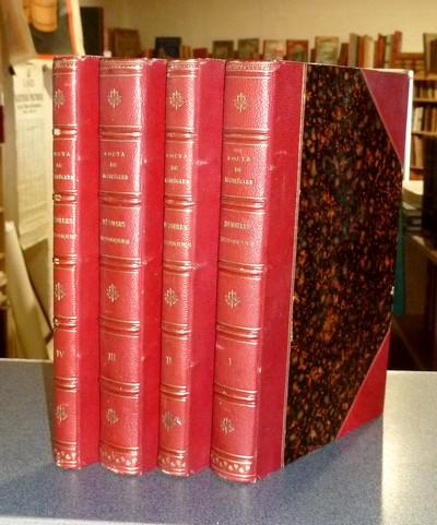 Livre ancien Savoie - Mémoires Historiques sur la Maison Royale de Savoie (4 volumes) et sur les... - Costa de Beauregard, Marquis (Quartier Maître général de l'Armée)