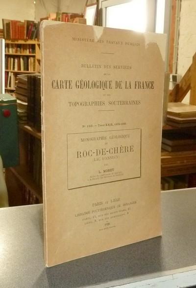 Livre ancien Savoie - Monographie géologique du Roc-de-Chère (Lac d'Annecy) - Moret, L.