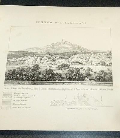 Livre ancien Savoie - Description géologique et paléontologique de la colline de Lémenc sur... - Pillet, L. & Fromontel, E. de