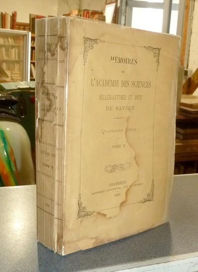 Livre ancien Savoie - Mémoires de l'Académie des... - Académie des sciences belles lettres et arts de Savoie