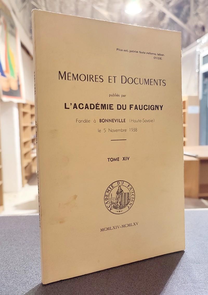 Livre ancien Savoie - Mémoires et Documents publiés par l'Académie du Faucigny Tome XIV - 1964 -... -