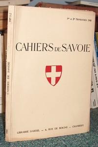 Livre ancien Savoie - 19 - Cahiers de Savoie 1er et... - Revue de Savoie