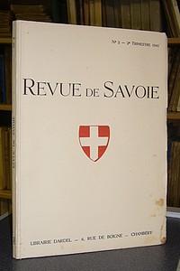 Livre ancien Savoie - 02 - Revue de Savoie n° 2, 2ème trimestre 1941 - Revue de Savoie