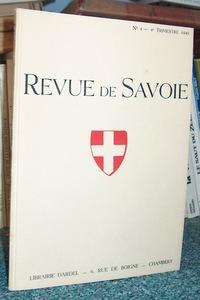 Livre ancien Savoie - 04 - Revue de Savoie n° 4, 4ème trimestre 1941 - Revue de Savoie