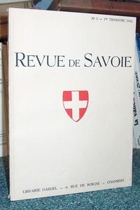 Livre ancien Savoie - 06 - Revue de Savoie n° 1, 1er trimestre 1942 - Revue de Savoie