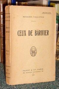Livre ancien Savoie - Ceux de Barivier - Vallotton Benjamin