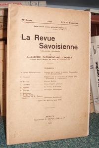 Livre ancien Savoie - La revue Savoisienne, publication périodique de l'Académie Florimontane... - Revue Savoisienne