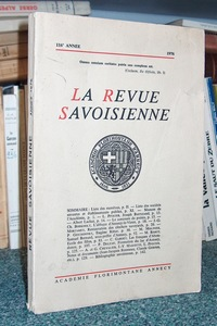 Livre ancien Savoie - La Revue Savoisienne. 116ème année, 1976 - Revue Savoisienne