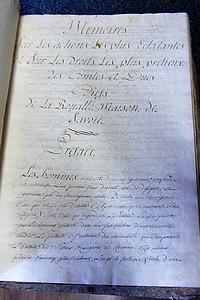 Livre ancien Savoie - Mémoires sur les actions les plus éclatantes et sur les droits les plus... - Rambert Chanoine