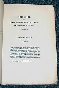 Livre ancien Savoie - Obituaire des Frères mineurs conventuels de Chambéri de l'ordre de S.... - Rabut François