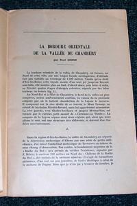 Livre ancien Savoie - La bordure orientale de la vallée de Chambéry - Gidon Paul