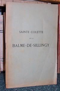 Livre ancien Savoie - Sainte Colette et la Balme de Sillingy - Gonthier J.F.