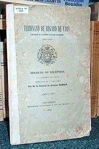 Livre ancien Savoie - Ferdinand de Regard de Vars. Capitaine au régiment d'Aoste - Cavalerie.... - Borson, Général de Division