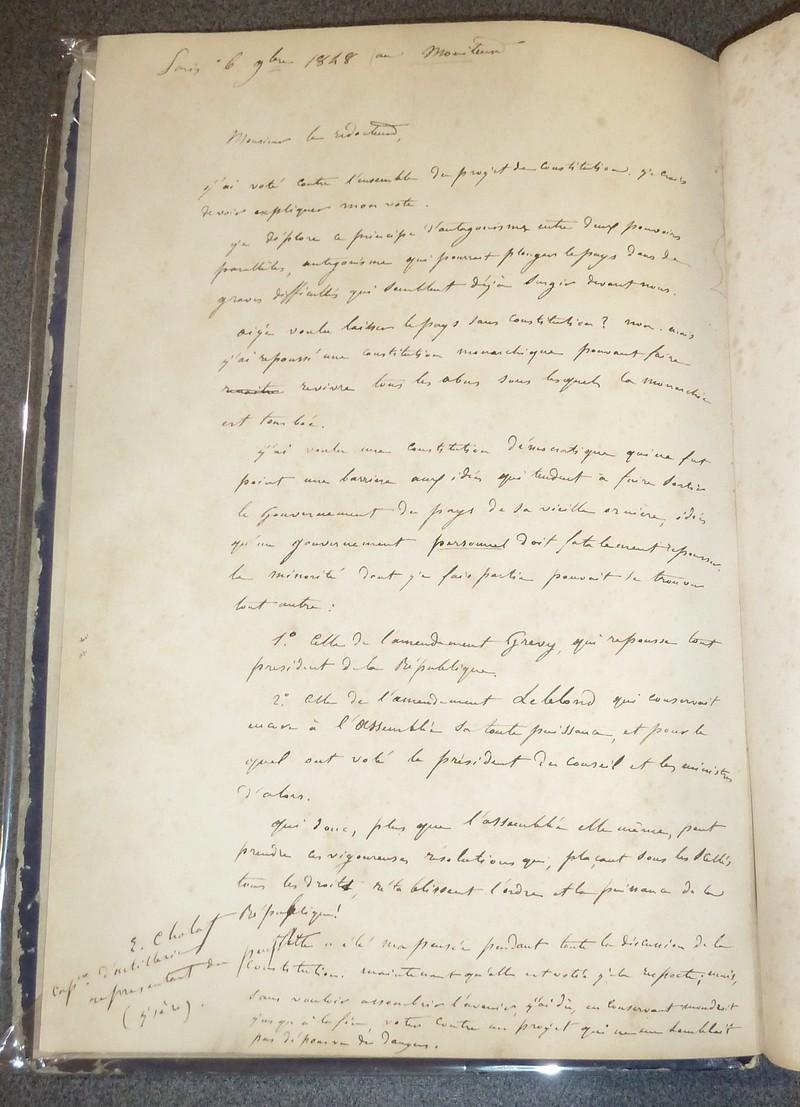 Livre ancien - Constitution de 1848 - Constitution de la République... - Collectif