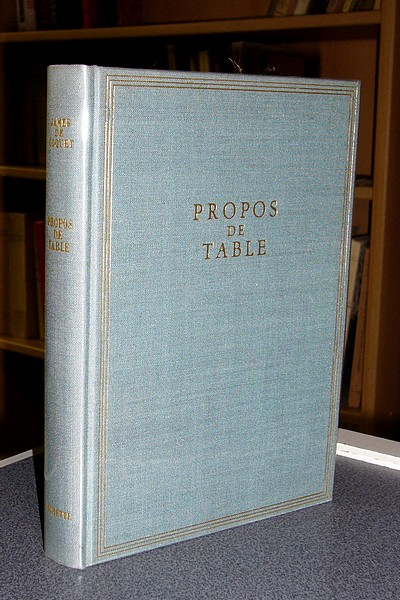 Propos de table - de Coquet, James