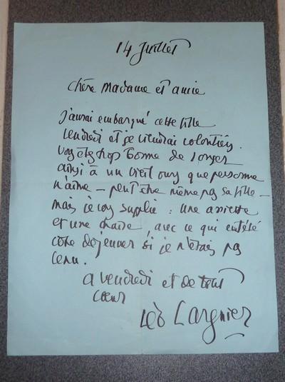 Livre ancien - Lettre autographe signée - Larguier Léo