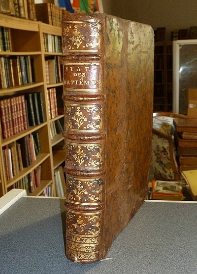 Livre ancien - État des Baptêmes, des Mariages et des Mortuaires de la... - Un des Messieurs de l'Académie des Sciences Belles-Lettres & Arts de Lyon