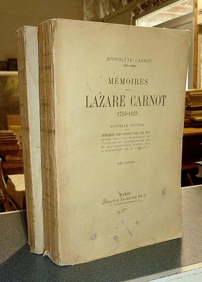 Livre ancien - Mémoires sur Lazare Carnot 1753-1823 (2 volumes) - Carnot (1801-1888), Hippolyte