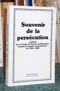 Livre ancien - Souvenir de la persécution soufferte par le Clergé du... - Molin François