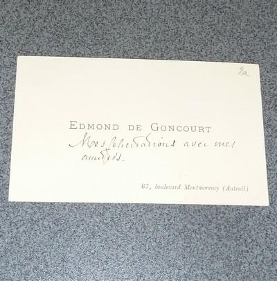 Carte De Visite Manuscrite Par Edmond Goncourt