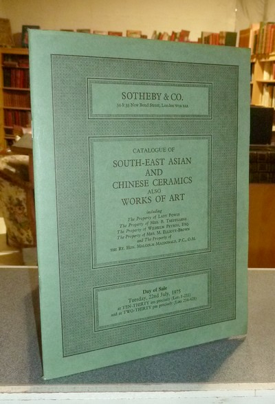 livre ancien - Catalogue of South-east asian and chinese ceramics also works of art. Sotheby & Co, 22nd july 1975 -